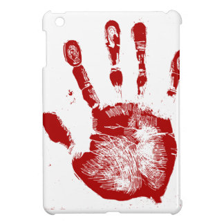 Red Hand Print iPad Mini Cover