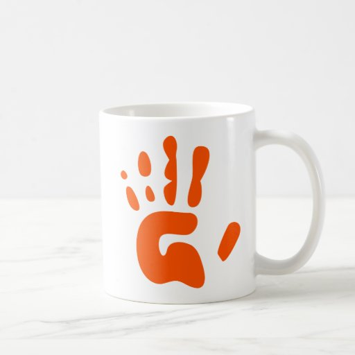 Red Hand Print Mug