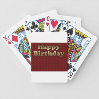 Red Happy-birthday #2 Poker Deck