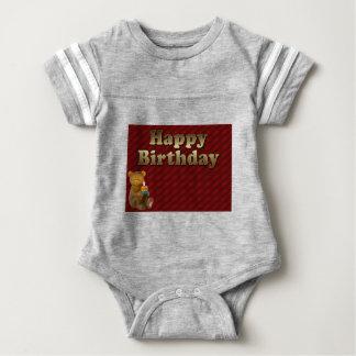 Red Happy-birthday Baby Bodysuit