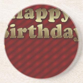 Red Happy-birthday Coaster