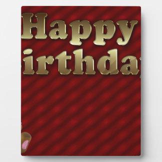 Red Happy-birthday Plaque