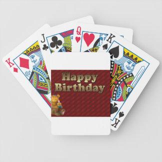 Red Happy-birthday Poker Deck
