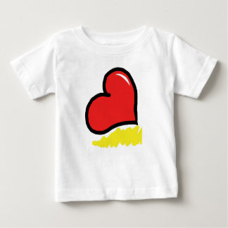 red happy heart baby T-Shirt