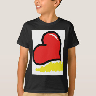 red happy heart T-Shirt