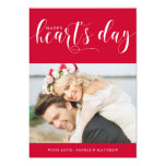 Red Happy Heart's Day | Photo Valentine's Day 13 Cm X 18 Cm Invitation Card