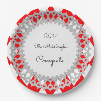Red-Harlequin-Silver-Shield_Celebration_Template Paper Plate