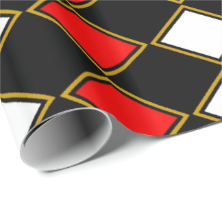 Red Harlequin Wrapping Paper