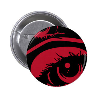 Red Haunting Eyes Button