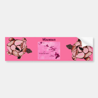Red Hawaiian Honu Turtle bumper sticker