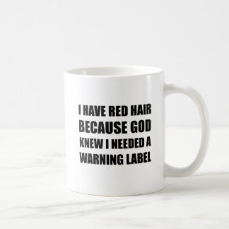 Red Head Hair Warning Label Funny Coffee Mug