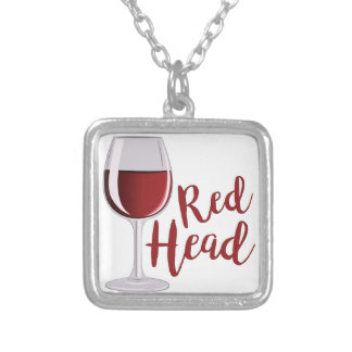 Red Head Silver Plated Necklace