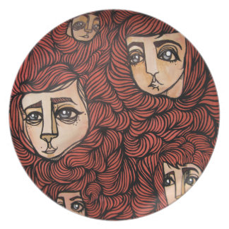 red headed follicle friends plate