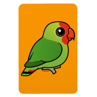 Red-headed Lovebird Rectangular Photo Magnet