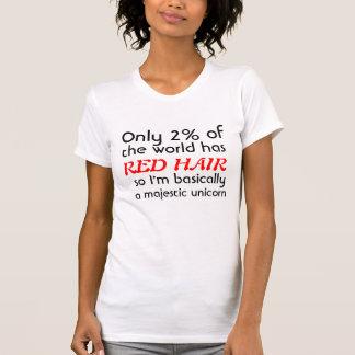 Red Headed Majestic Unicorn T-Shirt