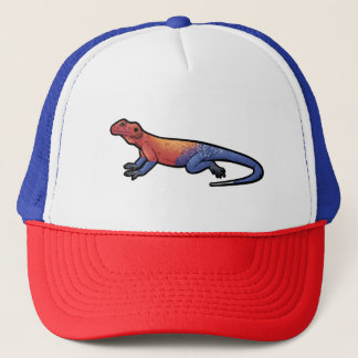 Red Headed Rock Agama Trucker Hat