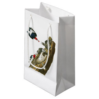 Red headed Woodpecker John Audubon Birds America Small Gift Bag