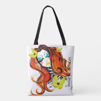 Red Heads & Butterflies Double Sided Tote