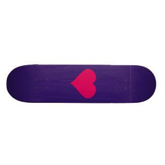 Red Heart 19.7 Cm Skateboard Deck