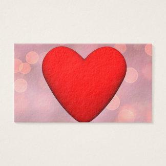 Red heart - 3D render Business Card