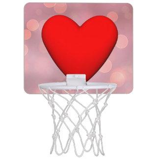 Red heart - 3D render Mini Basketball Hoop