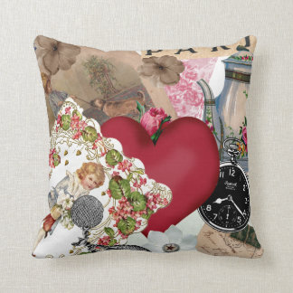 Red Heart and Paris Cushion