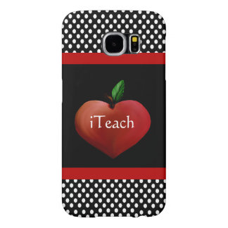 Red Heart Apple Teacher's Samsung Galaxy S6 Case