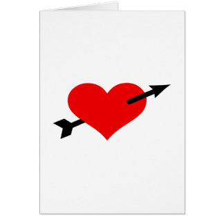 Red heart arrow card