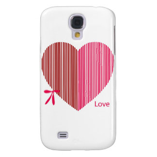 red heart as a gift for a St. Valentine's Day Samsung Galaxy S4 Case