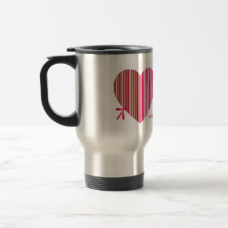 red heart as a gift for a St. Valentine's Day Coffee Mugs