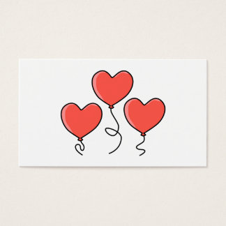 Red Heart Balloons. Business Card