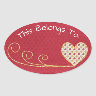 Red Heart Belongs To Oval Sticker