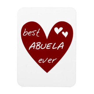 Red Heart Best Abuela Ever Gifts Rectangle Magnets