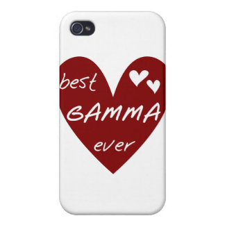 Red Heart Best Gamma Ever and Gifts iPhone 4/4S Case