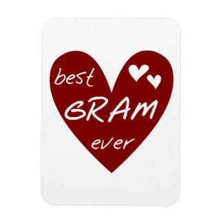 Red Heart Best Gram Ever Gifts Vinyl Magnets