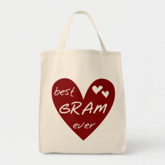 Red Heart Best Gram Ever Tshirts and Gifts Bags