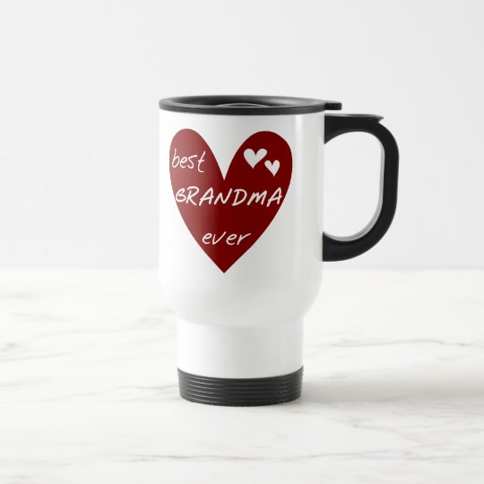 Red Heart Best Grandma Ever T-shirts and Gifts Travel Mug
