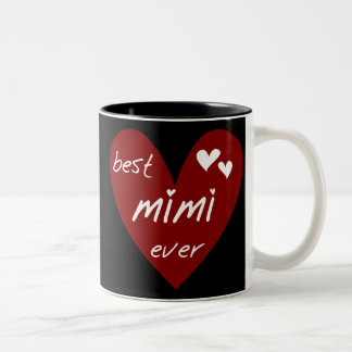 Red Heart Best Mimi Ever Tshirts and Gifts Two-Tone Coffee Mug