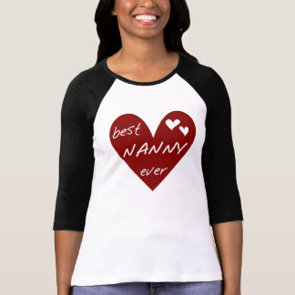 Red Heart Best Nanny Ever T-shirts and Gifts