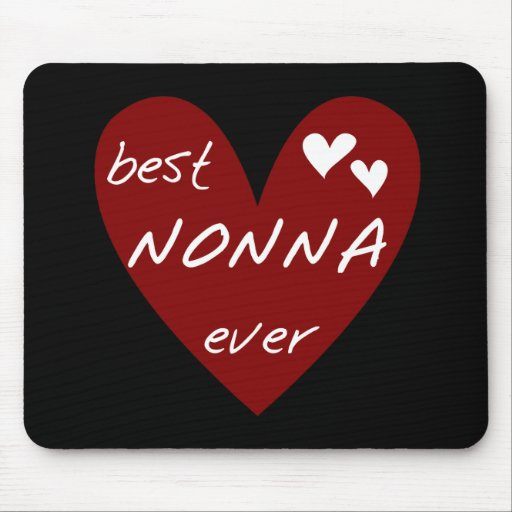 Red Heart Best Nonna Ever T-shirts gifts Mouse Pads