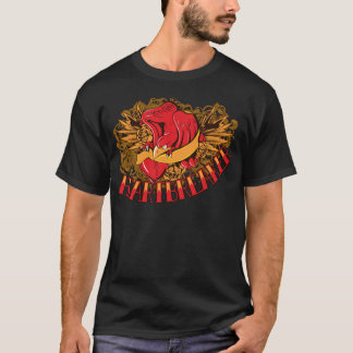 Red Heart Break Typography Noteworthy T-Shirt