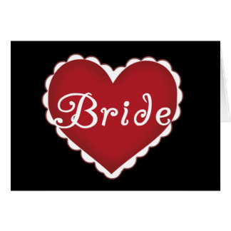 Red Heart Bride T-shirts and Gifts Cards