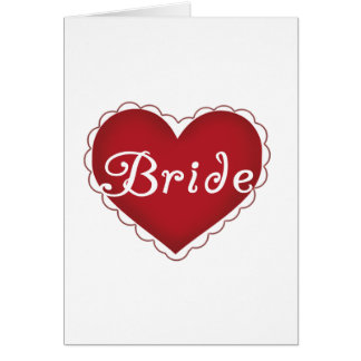 Red Heart Bride T-shirts and Gifts Card