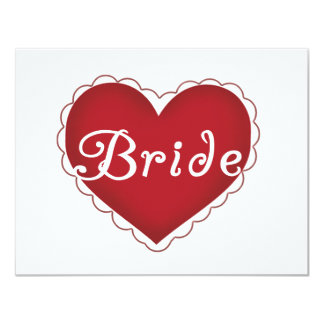Red Heart Bride T-shirts and Gifts Announcement
