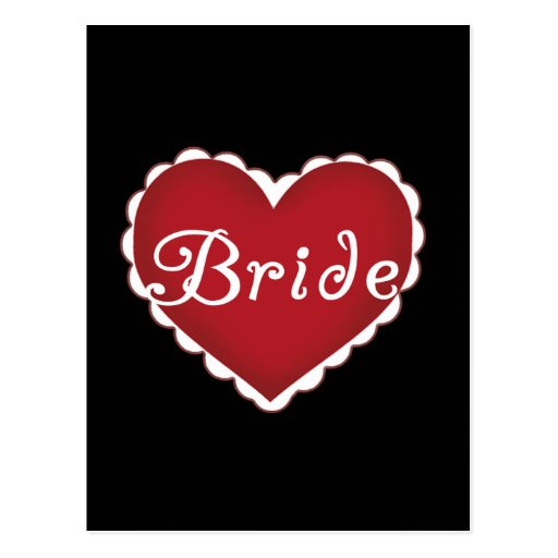 Red Heart Bride T-shirts and Gifts Postcards
