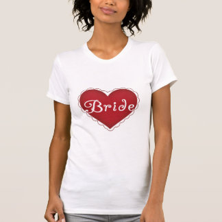 Red Heart Bride Tee Shirts