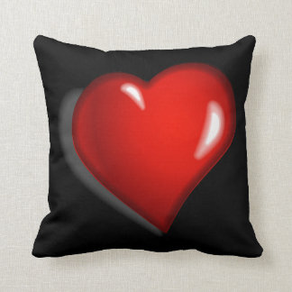 Red Heart Bubble Cushion