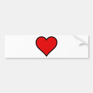 Red Heart Bumper Sticker