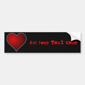Red Heart Car Bumper Sticker