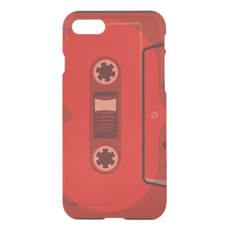 Red heart cassette iPhone 7 case